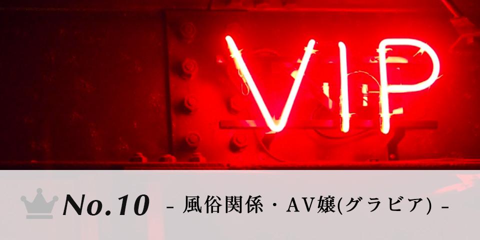 [10位] 風俗関係・AV嬢(グラビアアイドル)