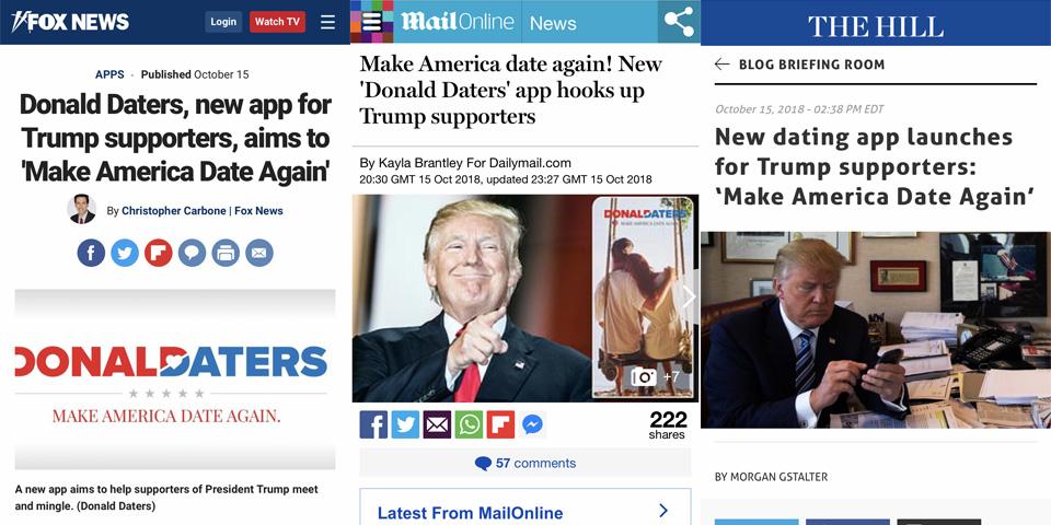 「Donald Daters」がトランプ大統領支持者に向けた理由とは?